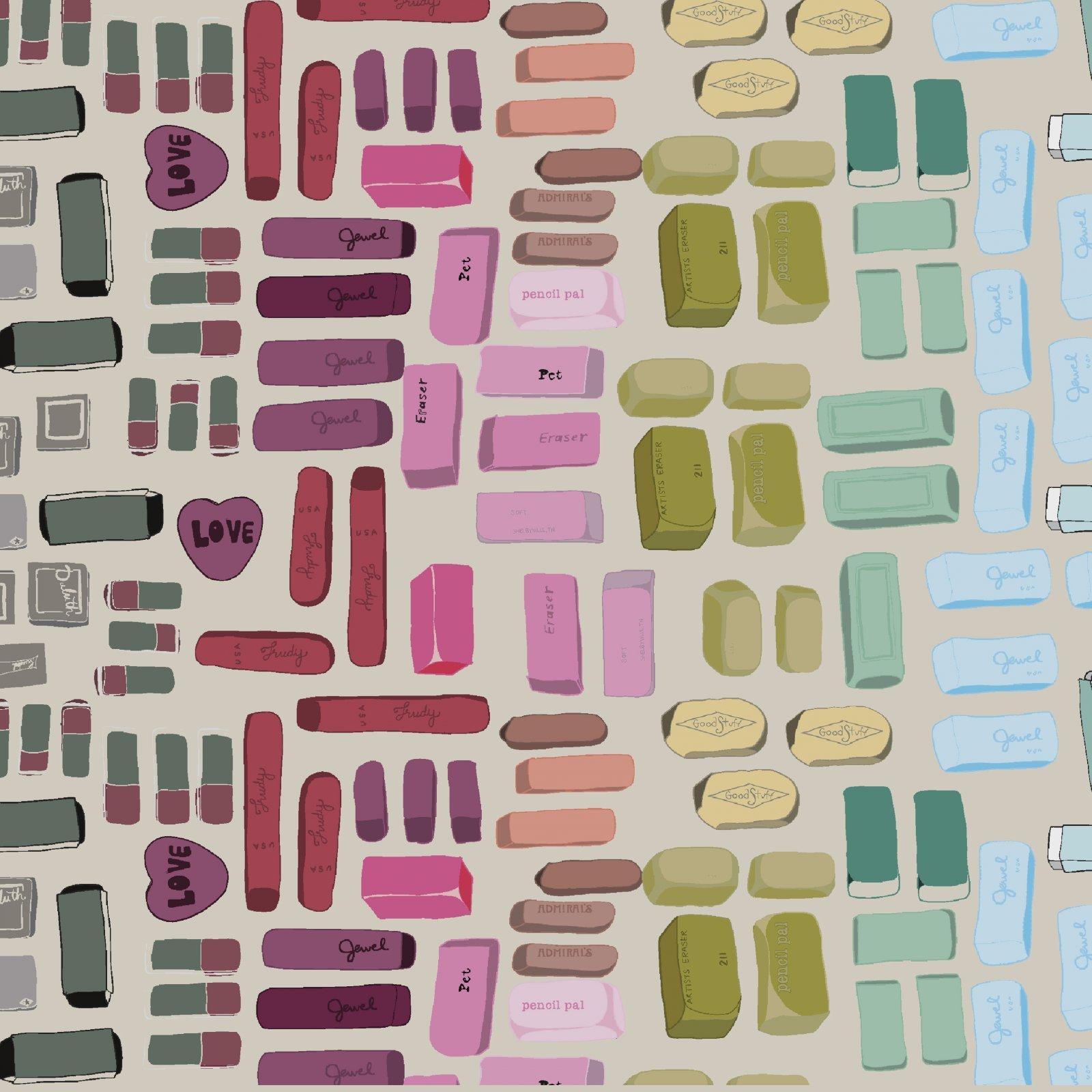 Pencil Club Erasers Buff Digital 51480D-4 by Heather Givans