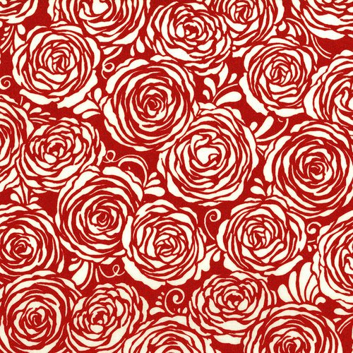 Sugar Berry Candied Roses Radiant Cherry Metallic 3372-003