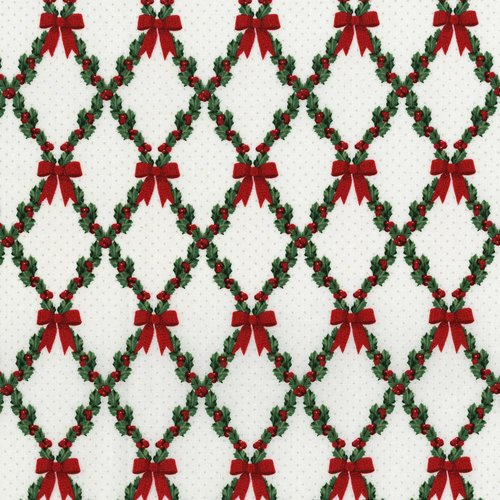 Let it Sparkle Bows and Holly Radiant Winter White Metallic 3490-003