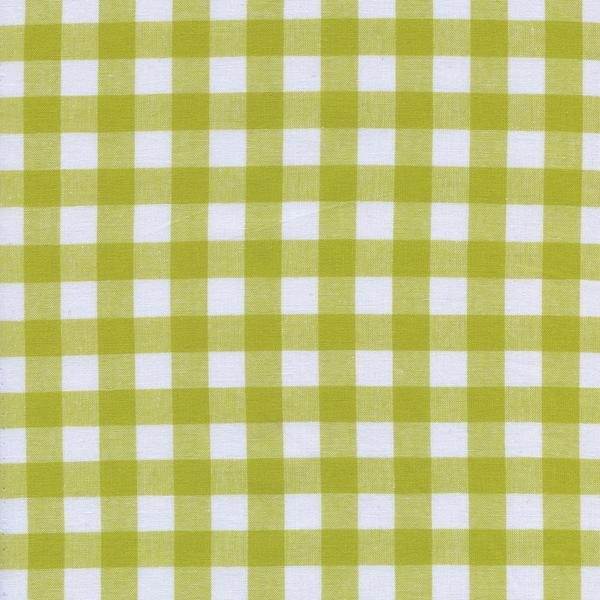 Checkers Woven Gingham Cotton + Steel 1/2 Citron