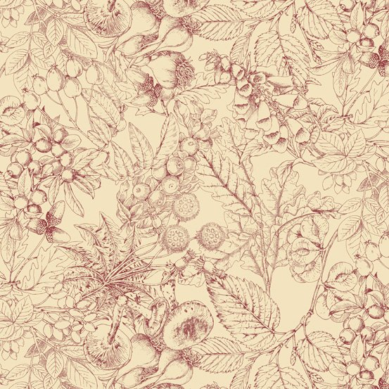 Outlander Toile Red A-8323-R