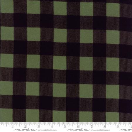 Buffalo Check Moda Flannel Black Green 8656 19F