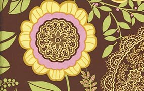 Lotus Lacework Brown by Amy Butler AB19.BROWN