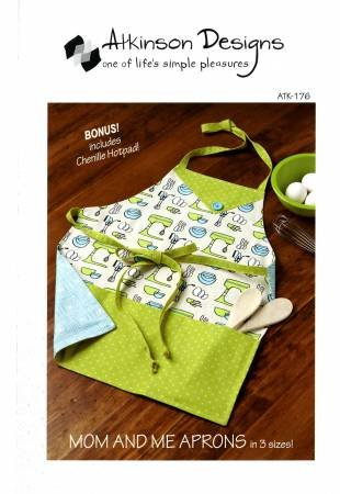Mom and Me Apron with Chenille Hotpad
