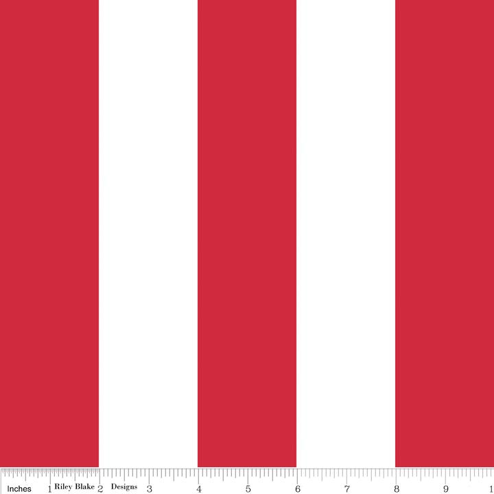 2 inch Stripe Red