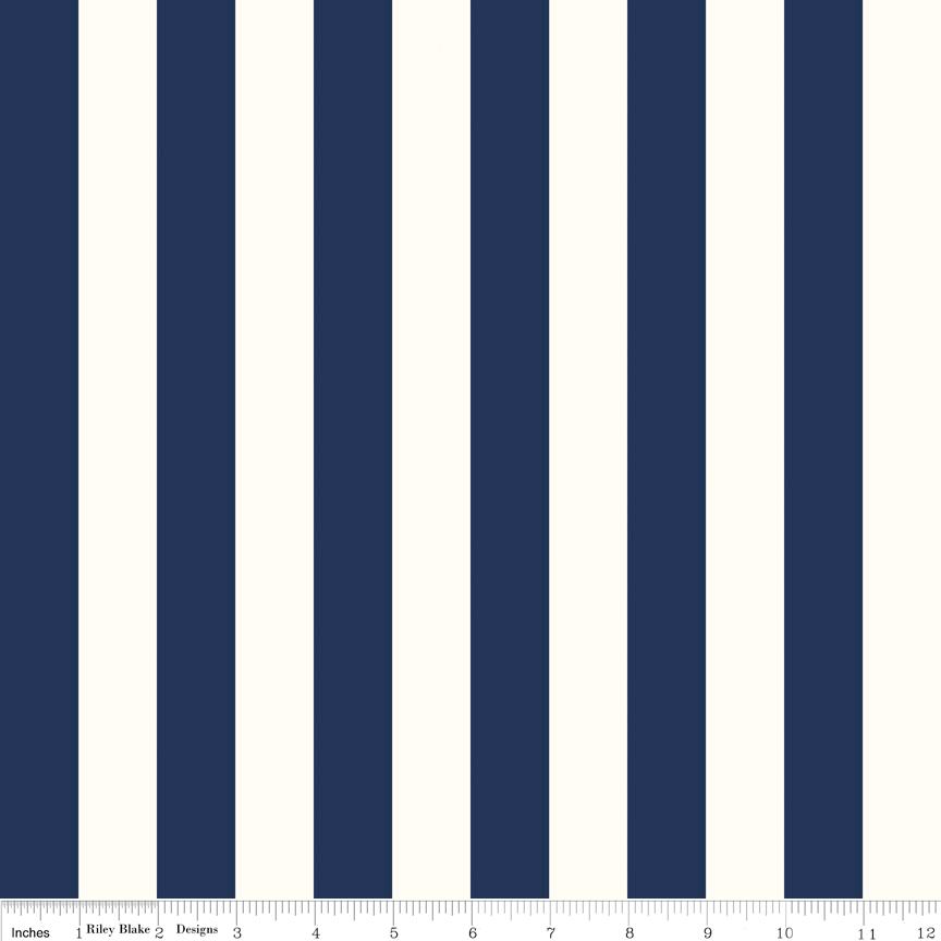 1 inch Stripe Navy