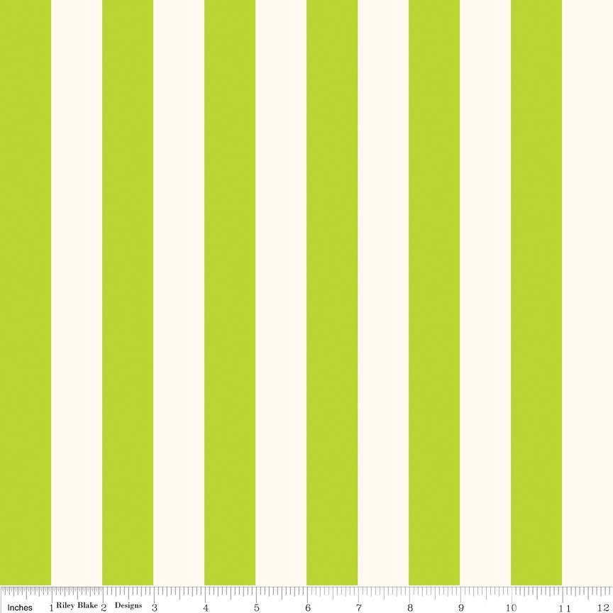 1 inch Stripe Lime