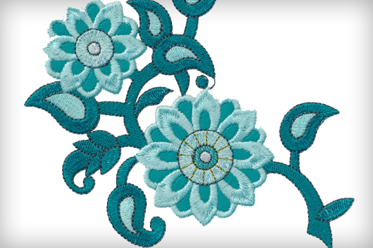 Chelsea OESD Embroidery Design USB Bernina Exclusive