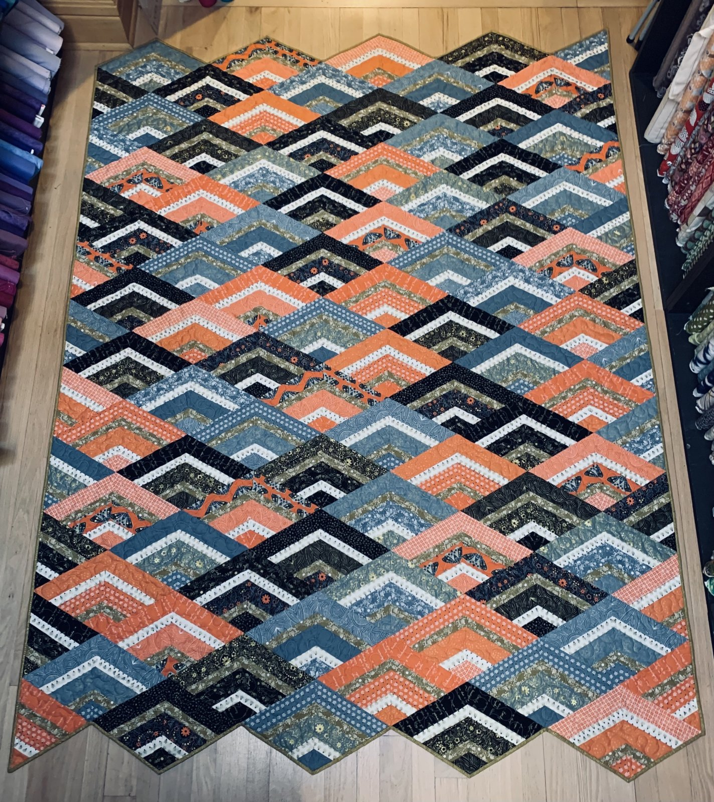 City Girl Chevron Quilt Kit 72 x 90 with Dwell In Possibility