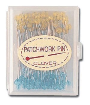 Clover Fine Patchwork Pins Blue/Yellow