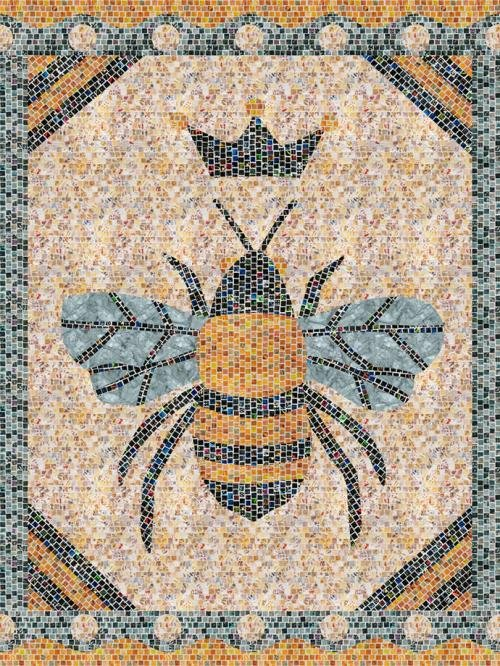 Queen Bee Mosaic Masterpiece Quilt Kit 36 x 48