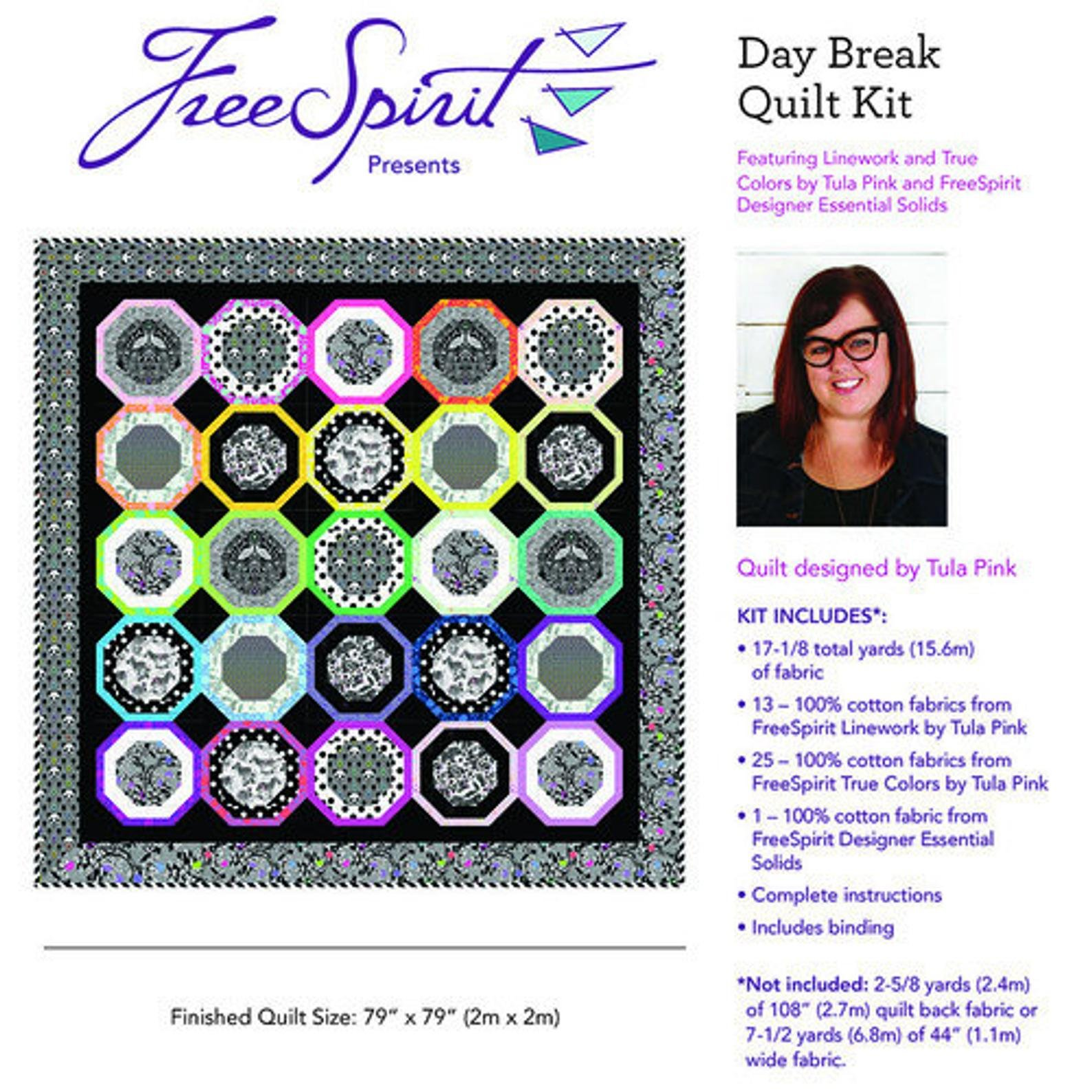 Linework Daybreak Quilt Kit KITQTTP.DAYBREAK by Tula Pink
