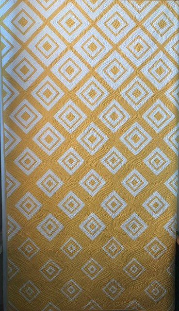 Diamonds in the Deep Quilt Kit Citrus 64 x 90