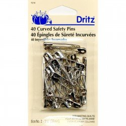Dritz Curved Safety Pins  Size 2 40 CT.