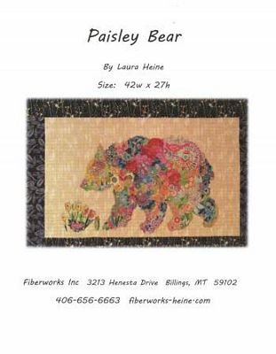 Paisley Bear Collage Laura Heine