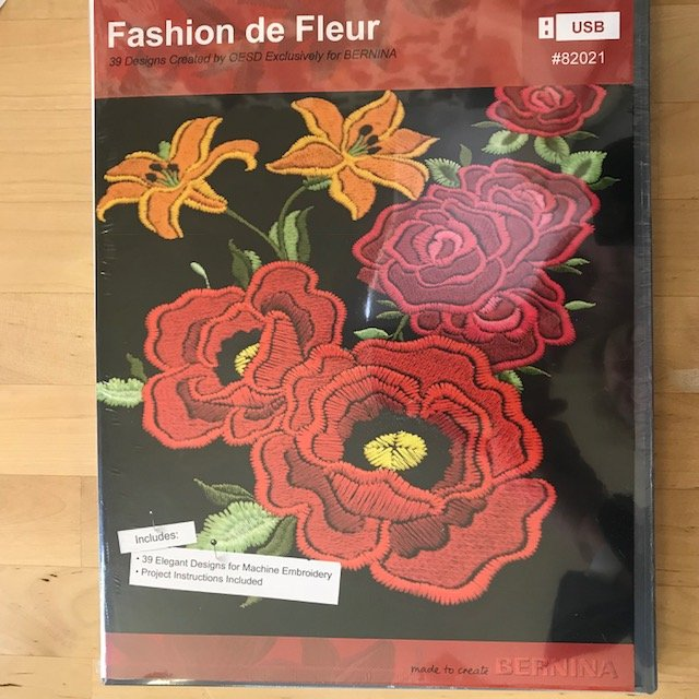 Fashion De Fluer USB Bernina Exclusive Embroidery Designs  - copy