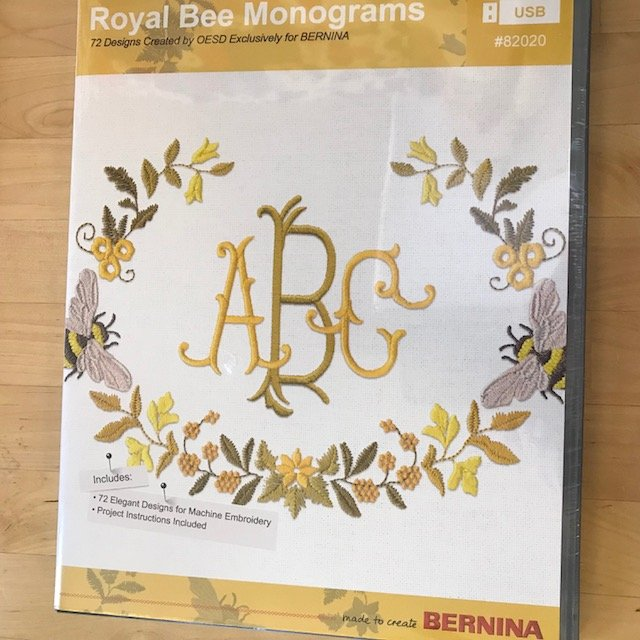 Royal Bee Monograms USB Bernina Exclusive Embroidery Designs