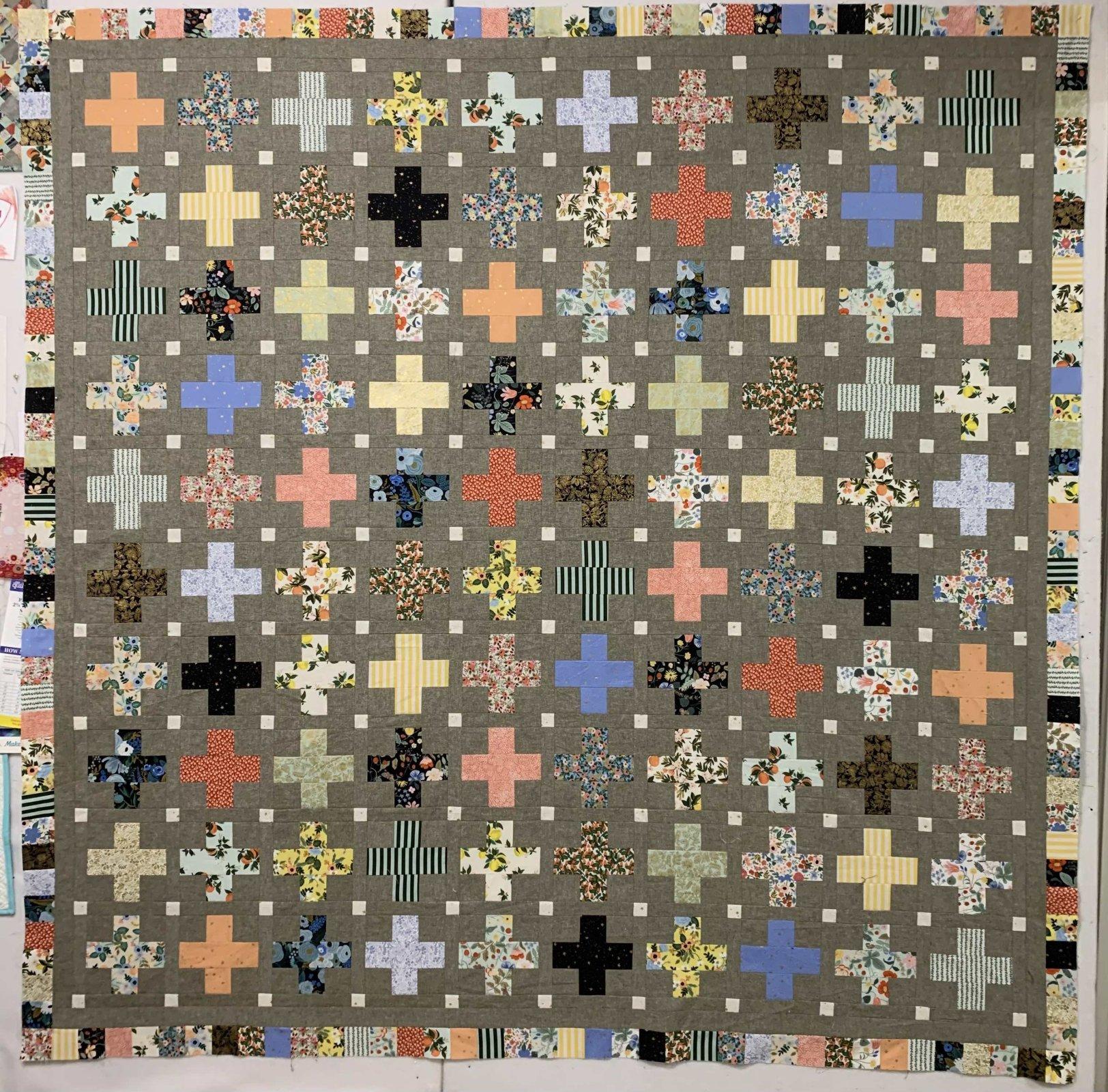Little Crosses Quilt 78 x 78