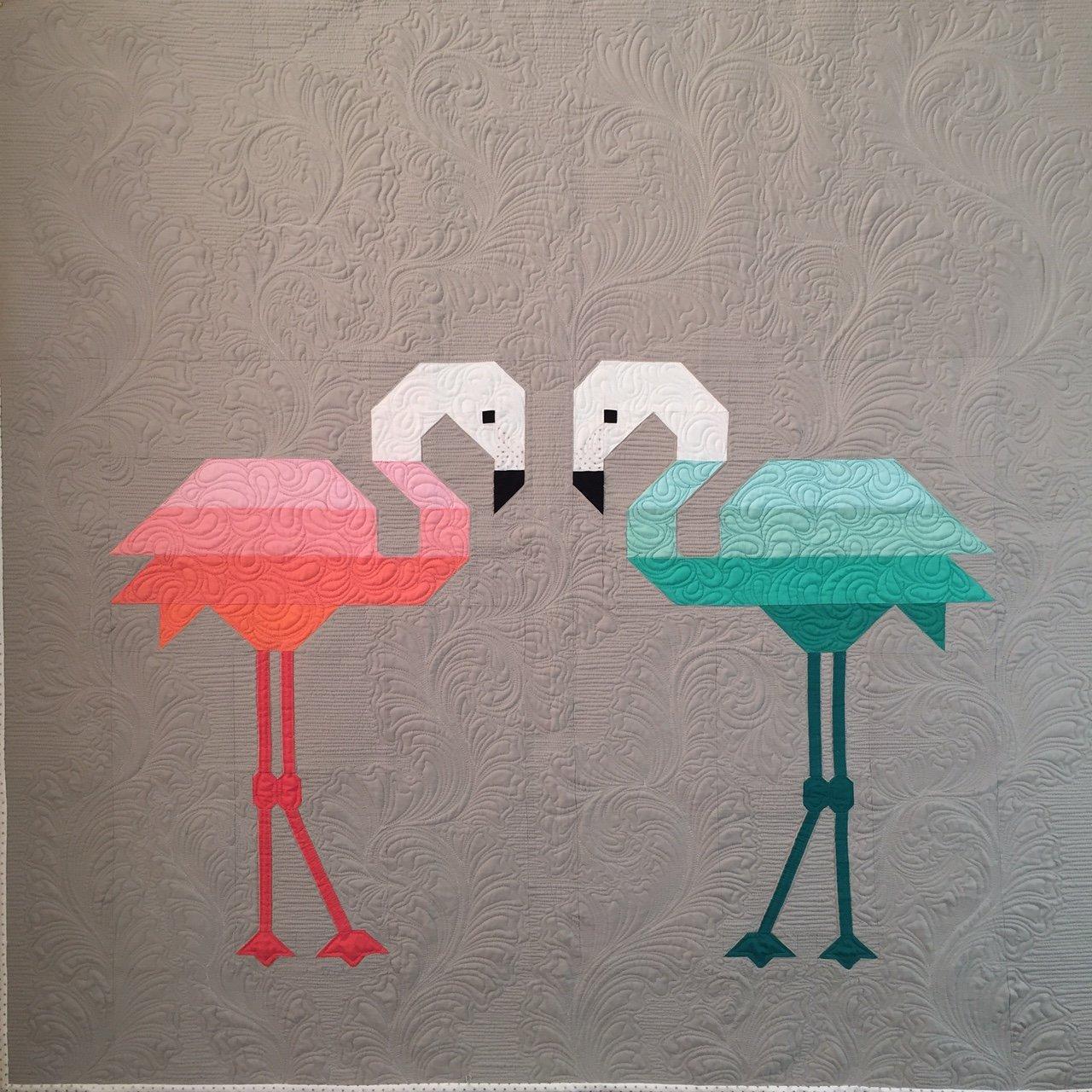 Florence Flamingo Quilt Kit 45 x 45