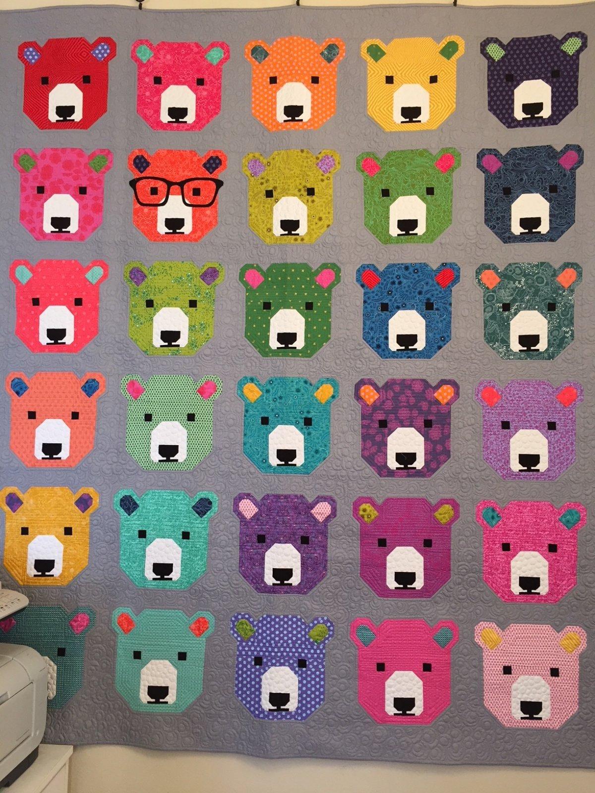 Bjorn Bear Quilt 81 x 90