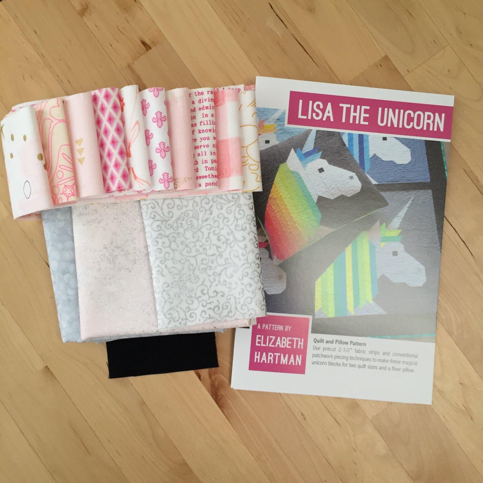Lisa the Unicorn Glitter Pink Wall Hanging Kit 26 x 26