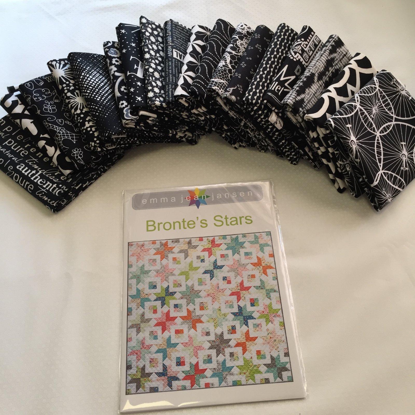 Bronte's Stars Black & White Quilt Kit 72 x 72