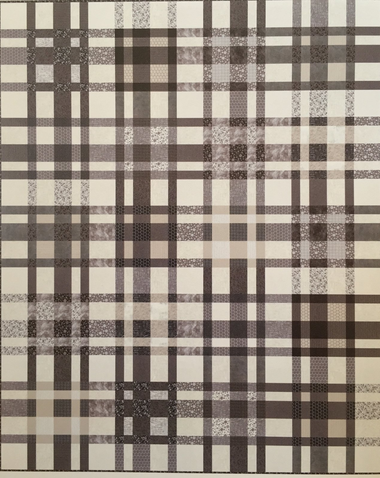Urban Plaid Quilt Kit  87 x 107
