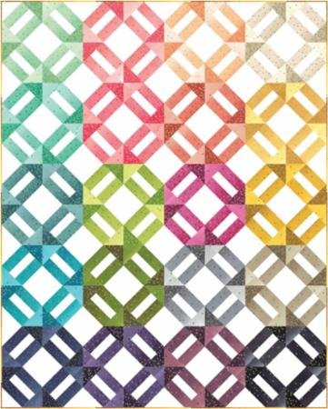 Ombre Confetti Metallic Quilt Kit