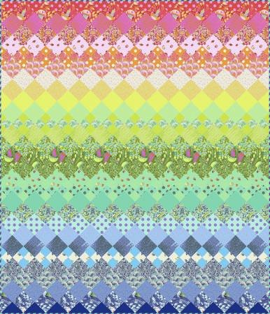 Aurora Quilt Kit Featuring Zuma by Tula Pink 68 x 80