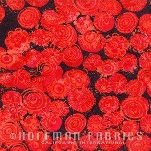 Bali Chop Graphic Floral Coral M2736-59