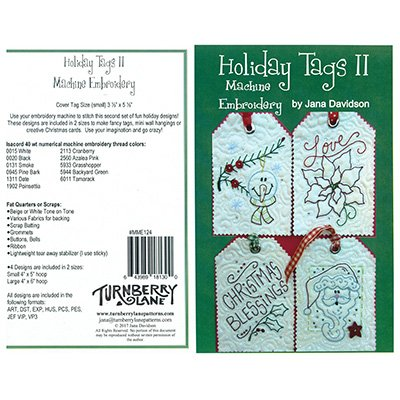 Holiday Tags II Machine Embroidery Pattern