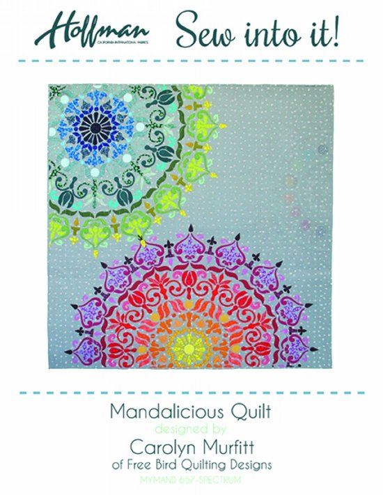 Mandalicious Laser Cut Quilt Kit by Hoffman 67x 67