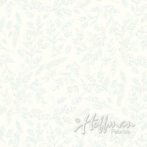 Bali Batik Ditsy Leaf Mist P2042-521