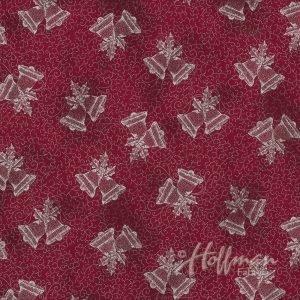 Bells Garnet/Silver P7617 231S Hoffman Christmas