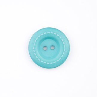 Stitched Button 1 in. Teal