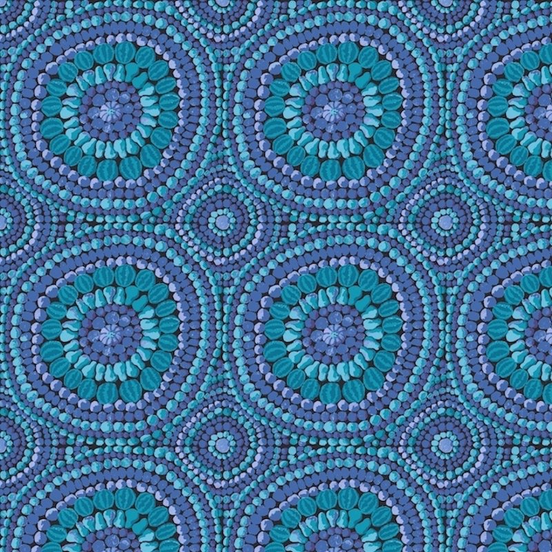 Fruit Mandala Blue 108 QBGP003.2BLUE