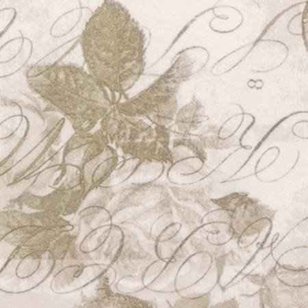 Eclectic Elements Backing Fabric 108 Rose Parcel Taupe