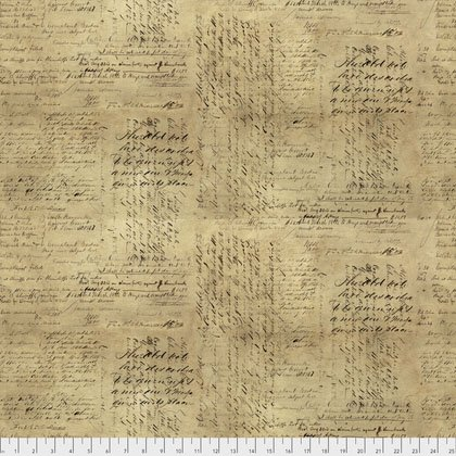 Eclectic Elements Backing Fabric 108 Script Neutral
