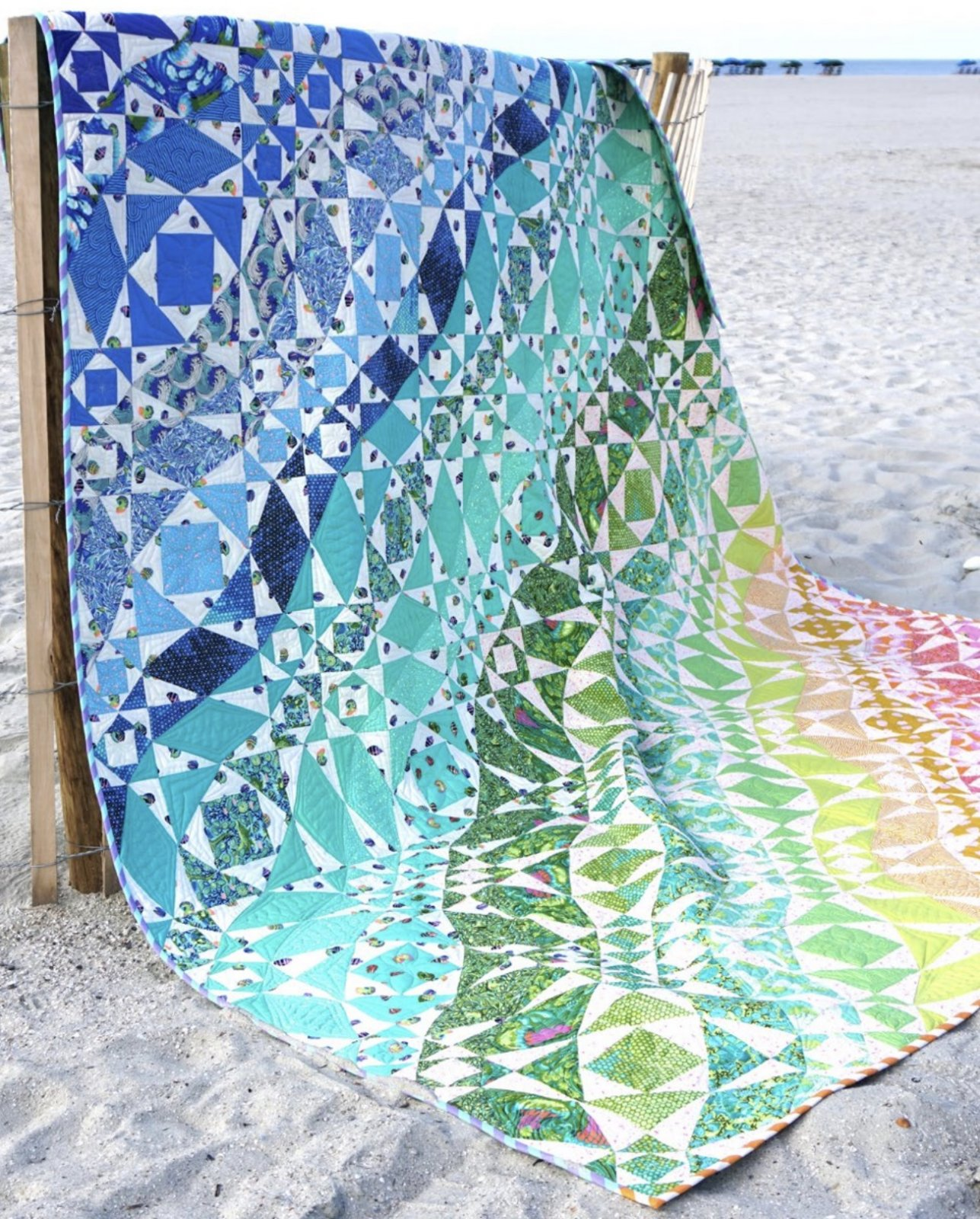 Zuma Rainbow Waves Quilt 80 x 96