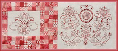 Scandinavian Rose Block Two