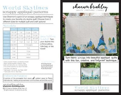 World Skylines Scrappy Applique