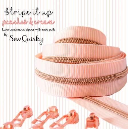 Stripe it Up Peach Zipper by Sew Quirky