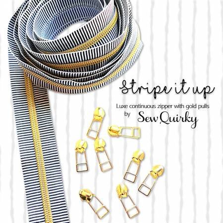 Stripe it Up Black/White Zipper by Sew Quirky
