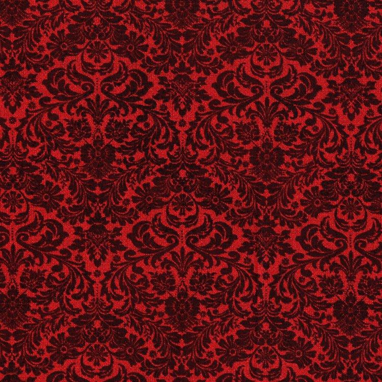 Shiny Objects Holiday Twinkle Dazzling Damask Radiant Crimson Metallic 3163-003 - copy