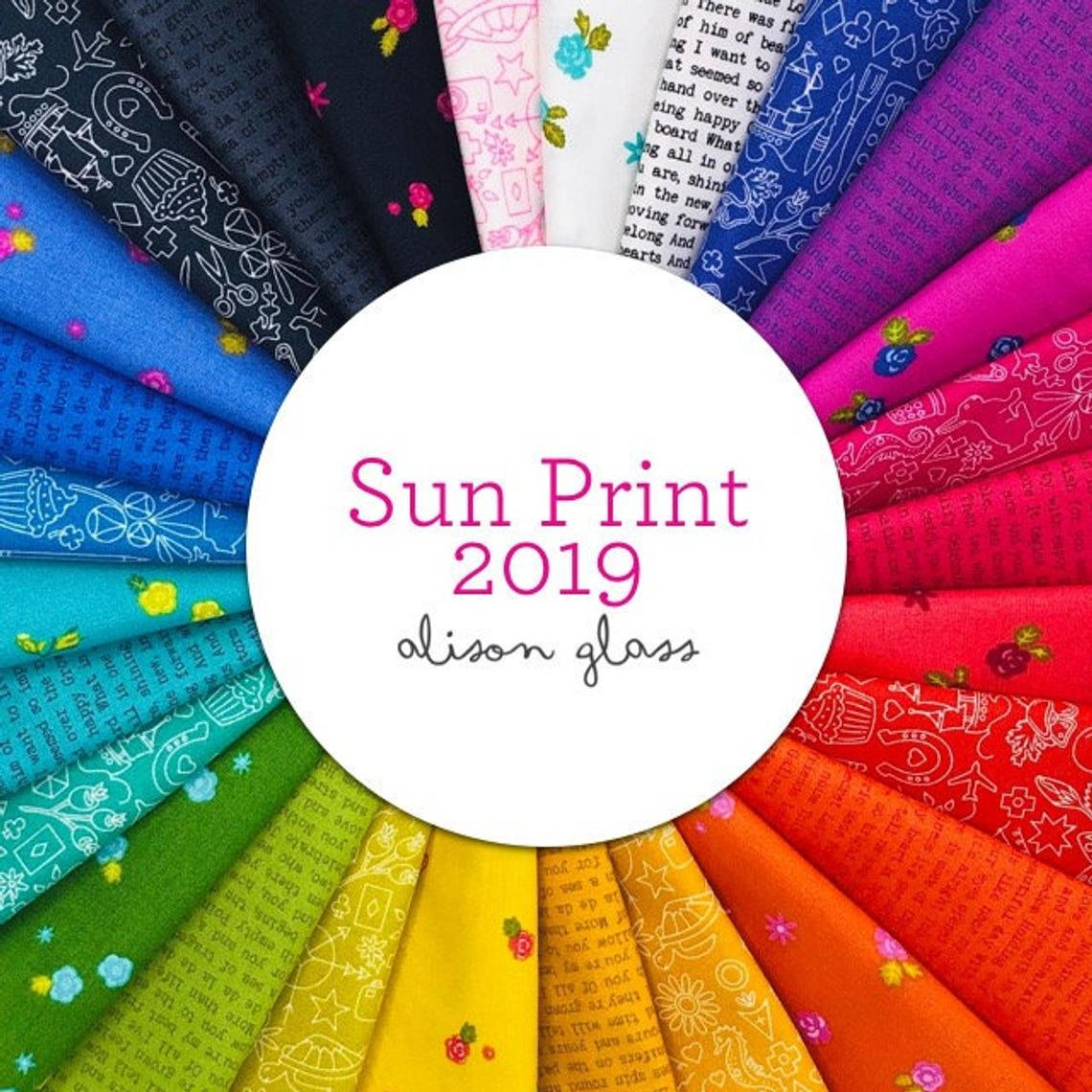 Sun Print 2019 Single Scoop/Charm Pack/5 in. squares by Alison Glass