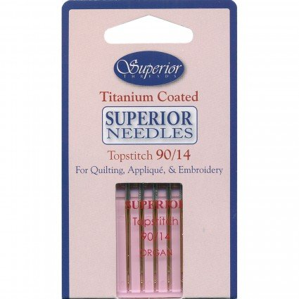 Superior Titanium Topstitch Needles sz 90