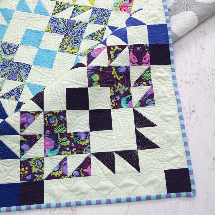 Electric Pop Quilt by Tied With A Ribbon