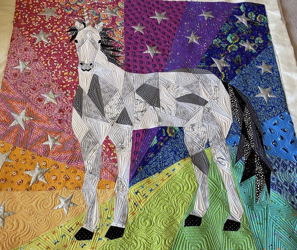 Tula Rainbow Unicorn Quilt 60 x 60