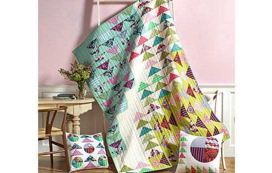 Misdirection Quilt Kit with Elizabeth by Tula Pink