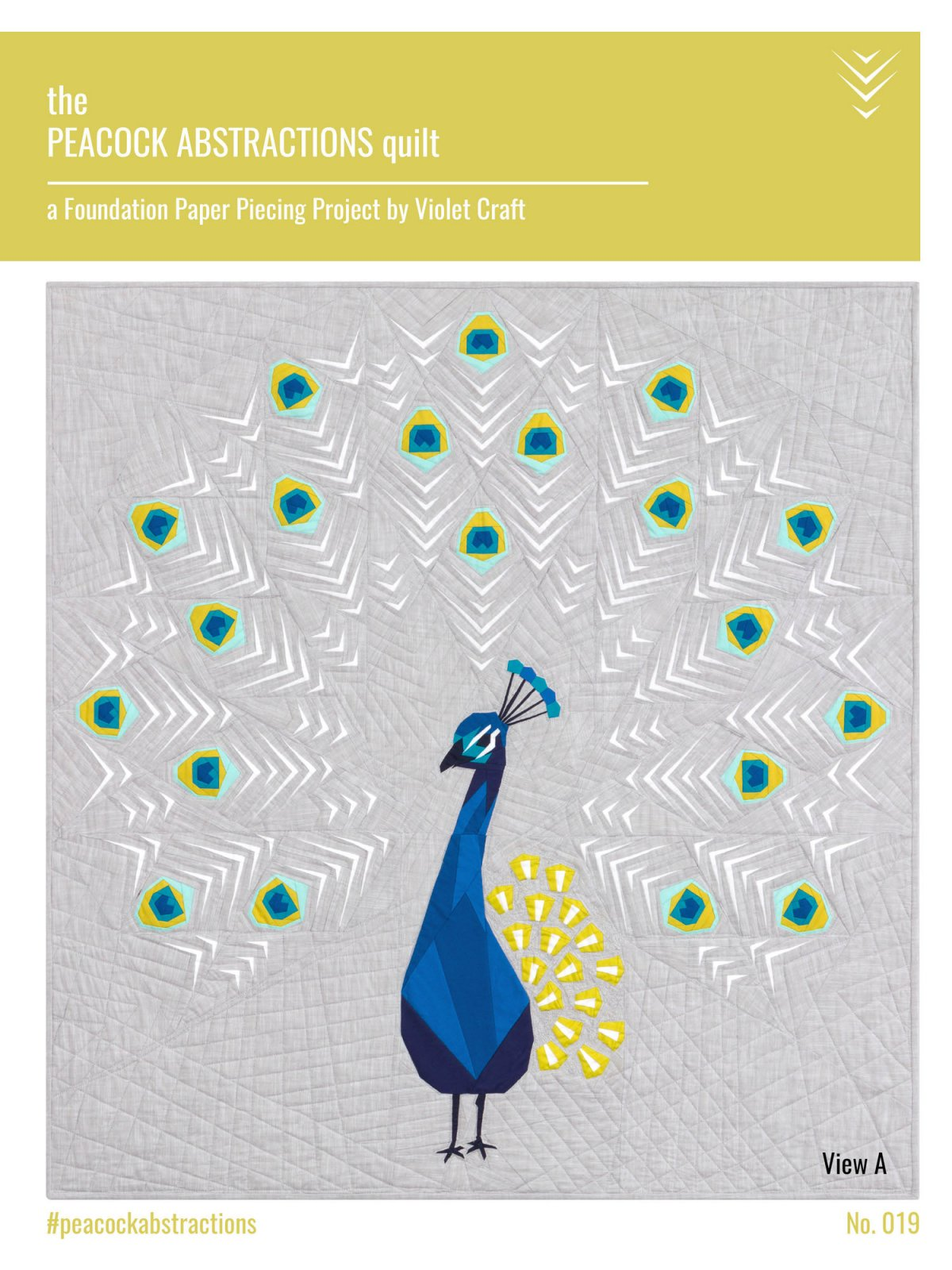 Peacock Abstractions Quilt Kit 48 x 51